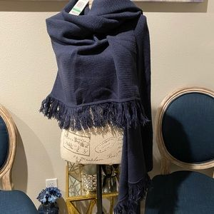 STYLE & CO WRAP/SCARF NAVY BLUE O/S
